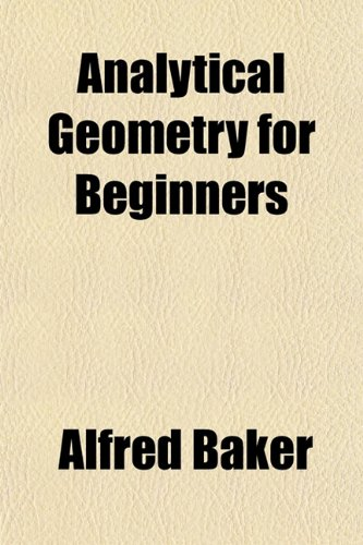 Large book cover: Analytical Geometry for Beginners