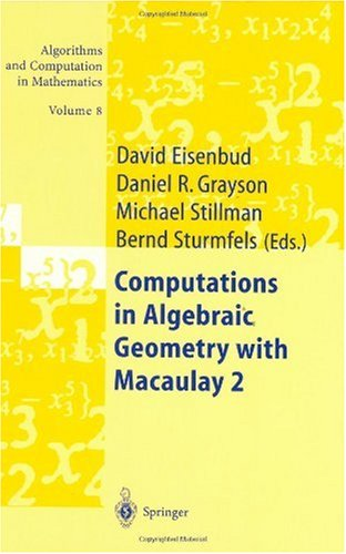 Large book cover: Computations in Algebraic Geometry with Macaulay 2