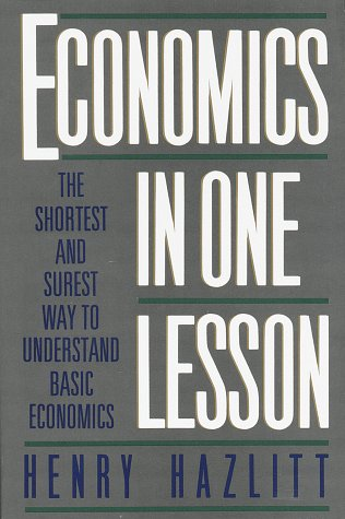 Large book cover: Economics in One Lesson