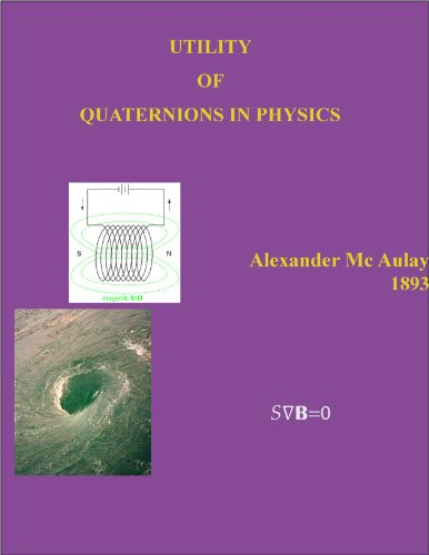 Large book cover: Utility of Quaternions in Physics