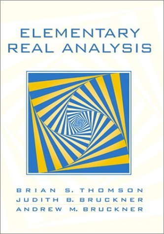 Large book cover: Elementary Real Analysis