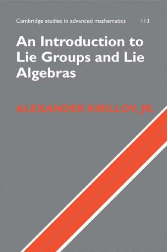 Large book cover: Introduction to Lie Groups and Lie Algebras