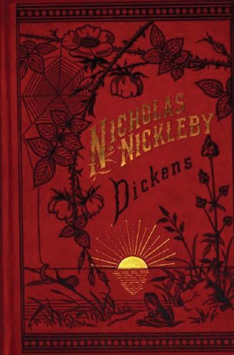 Large book cover: The Life and Adventures of Nicholas Nickleby