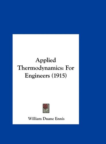 Large book cover: Applied Thermodynamics for Engineers