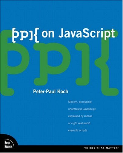 Large book cover: ppk on JavaScript