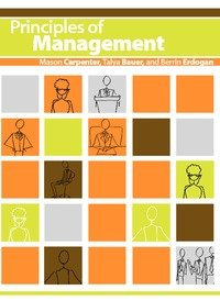 Large book cover: Principles of Management