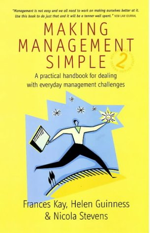 Large book cover: Making Management Simple