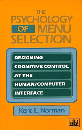 Large book cover: The Psychology of Menu Selection