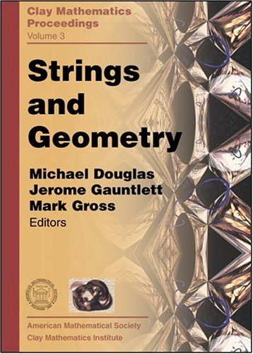 Large book cover: Strings and Geometry