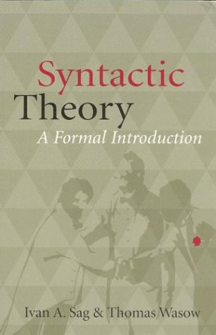 Large book cover: Syntactic Theory: A Formal Introduction