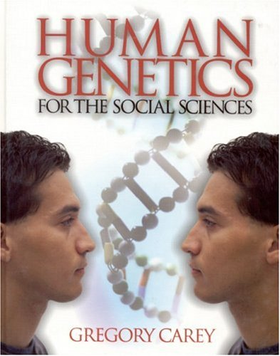 Large book cover: Human Genetics for the Social Sciences