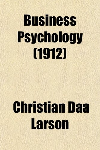 Large book cover: Business Psychology