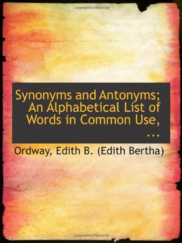 Large book cover: Synonyms and Antonyms