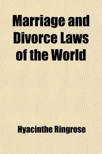 Large book cover: Marriage and Divorce Laws of the World
