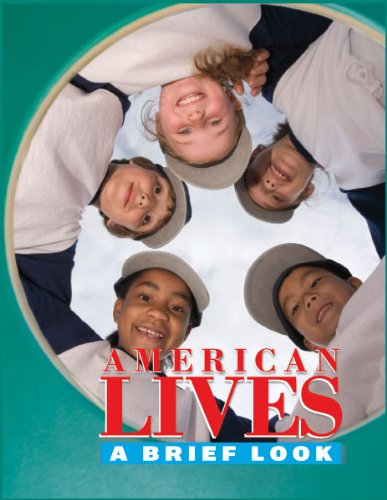Large book cover: American Lives: A Brief Look
