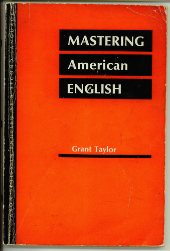 Large book cover: Mastering American English