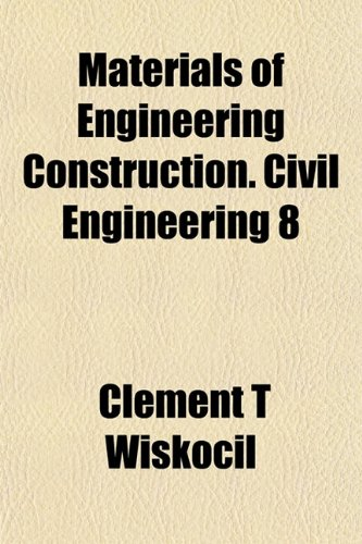 Large book cover: Materials of Engineering Construction