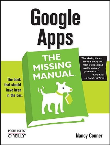 Large book cover: Google Apps: The Missing Manual
