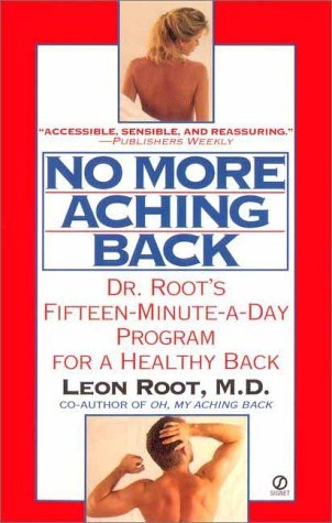 Large book cover: No More Aching Back