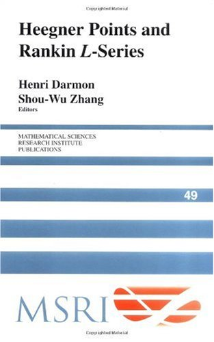 Large book cover: Heegner Points and Rankin L-Series