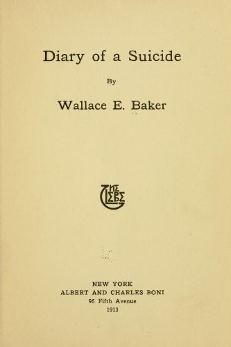 Large book cover: Diary of a Suicide