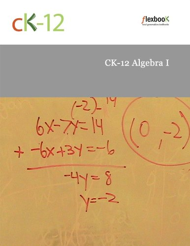 Large book cover: CK-12 Algebra I