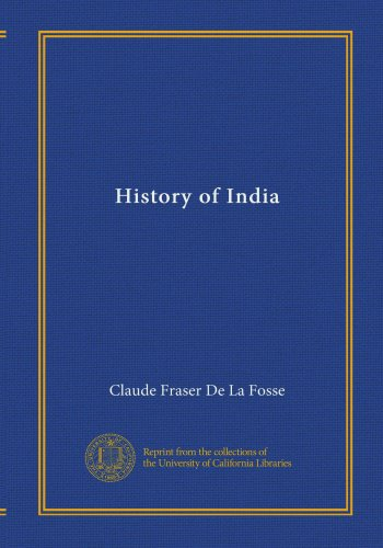 Large book cover: History of India