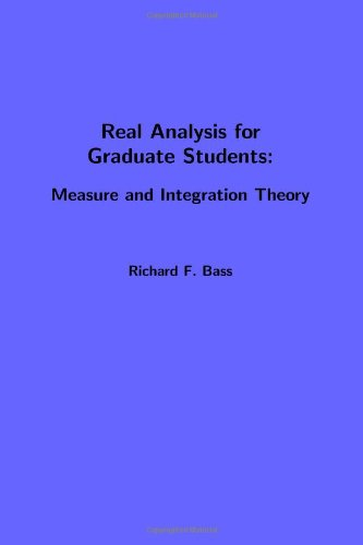 Large book cover: Real Analysis for Graduate Students: Measure and Integration Theory
