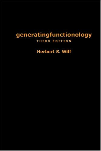 Large book cover: generatingfunctionology