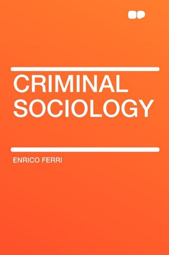 Large book cover: Criminal Sociology