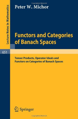 Large book cover: Functors and Categories of Banach Spaces