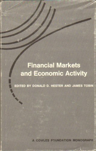 Large book cover: Financial Markets and Economic Activity