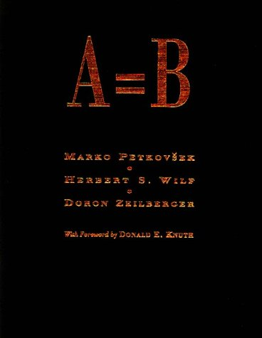 Large book cover: A=B