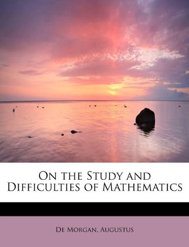 Large book cover: On the Study and Difficulties of Mathematics