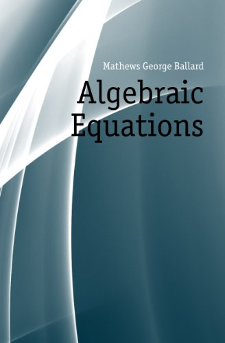 Large book cover: Algebraic Equations