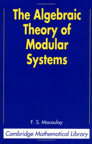Large book cover: The Algebraic Theory of Modular Systems