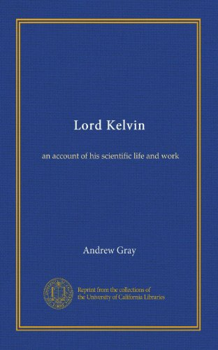 Large book cover: Lord Kelvin