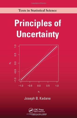 Large book cover: Principles of Uncertainty