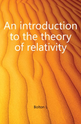 Large book cover: An Introduction to the Theory of Relativity