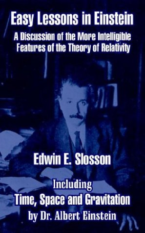 Large book cover: Easy Lessons in Einstein