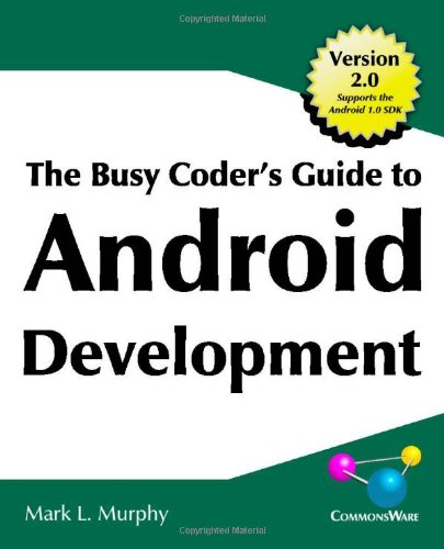 Large book cover: The Busy Coder's Guide to Android Development