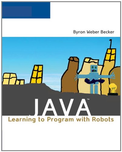 Large book cover: Java: Learning to Program with Robots