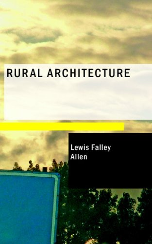 Large book cover: Rural Architecture
