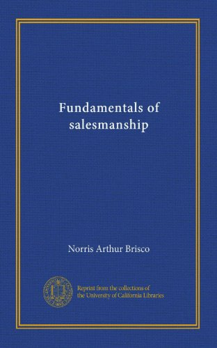 Large book cover: Fundamentals of Salesmanship