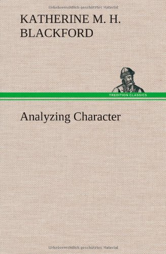 Large book cover: Analyzing Character