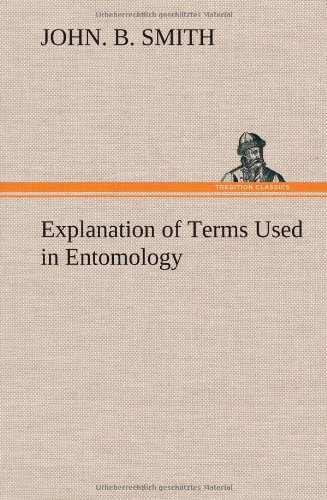 Large book cover: Explanation of Terms Used in Entomology