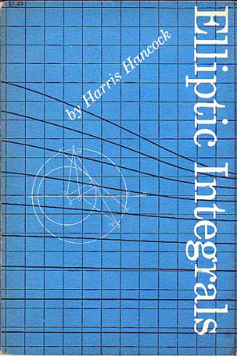 Large book cover: Elliptic Integrals