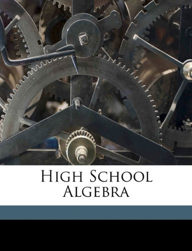 Large book cover: High School Algebra