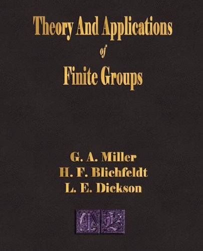 Large book cover: Theory and Applications of Finite Groups
