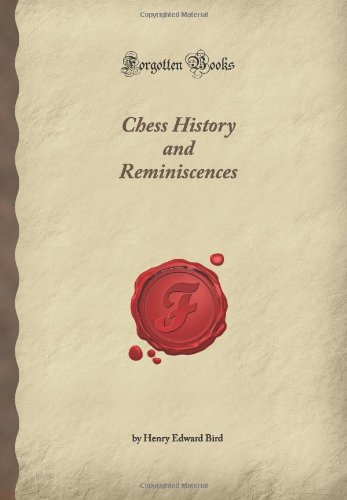 Large book cover: Chess History and Reminiscences